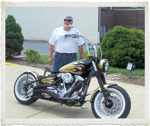 Do You Love Big Inch Air Cooled Push Rod Motors Well Steve Hoffman The Owner Of This Slick Metal Flake Gold Bobber Sure Does